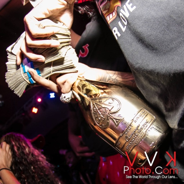 Money and Ace of Spades
