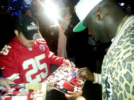 Tamba Hali Signing Autographs